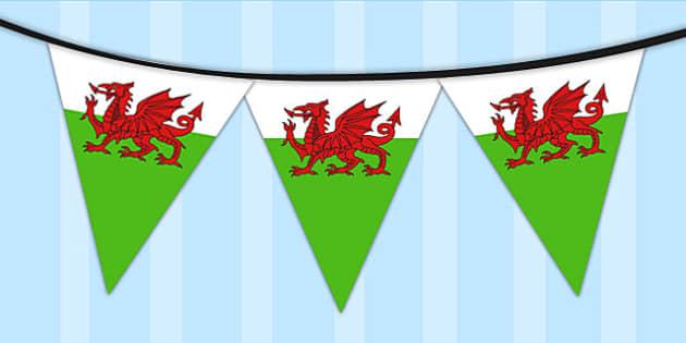 Wales Flag Bunting - wales, flag, bunting, display, welsh flag