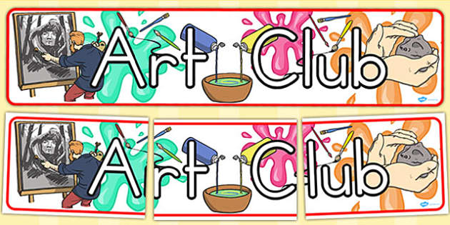 Art Club Display Banner (Australia) - banners, displays, visuals