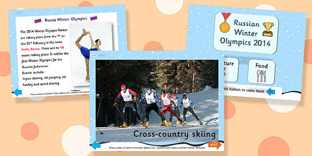 Russian Winter Olympics 2014 Information PowerPoint - olympic