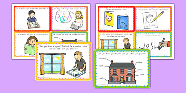 Writing and Drawing Area Challenge Cards (Australia) - write