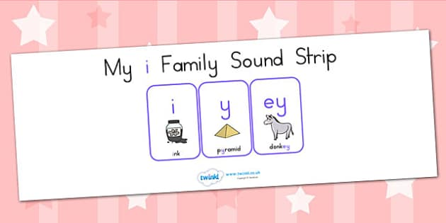 My I Family Sound Strip - sound family, visual aid, literacy