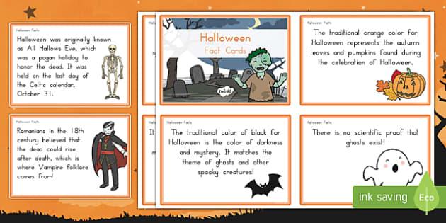 Halloween Fact Cards
