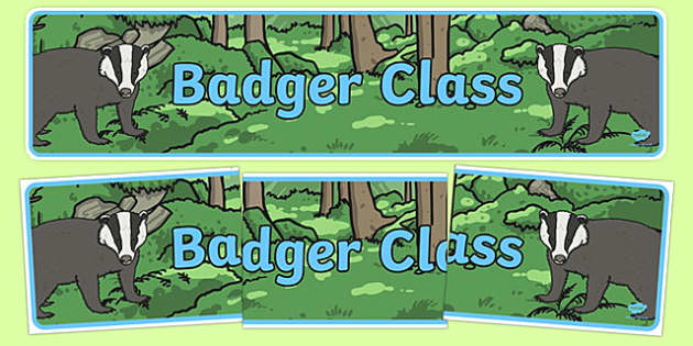 Badger Themed Classroom Display Banner - Themed banner, banner, display banner, Classroom labels, Area labels, Poster, Display, Areas