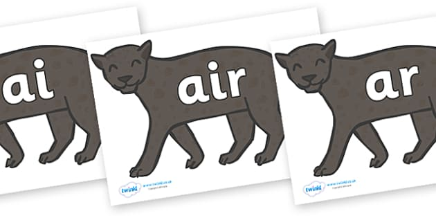 Phase 3 Phonemes on Panthers - Phonemes, phoneme, Phase 3, Phase three, Foundation, Literacy, Letters and Sounds, DfES, display