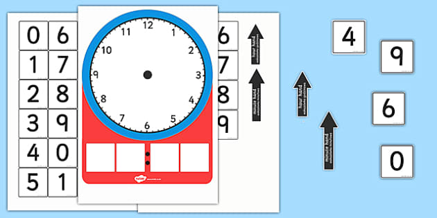 Analogue and Digital Clock Teaching Activity Polish Translation - polish, analogue, digital