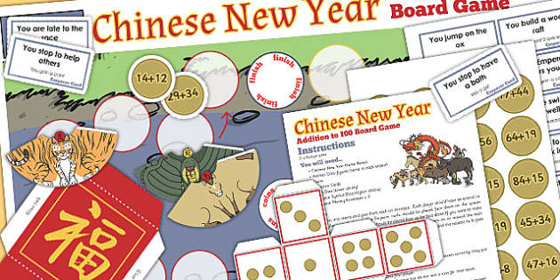 Addition to 100 Chinese New Year Board Game - chinese new year
