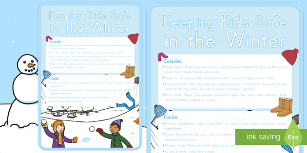 Safe in the Winter A2 Display Poster - safe, winter, cold, weather ...