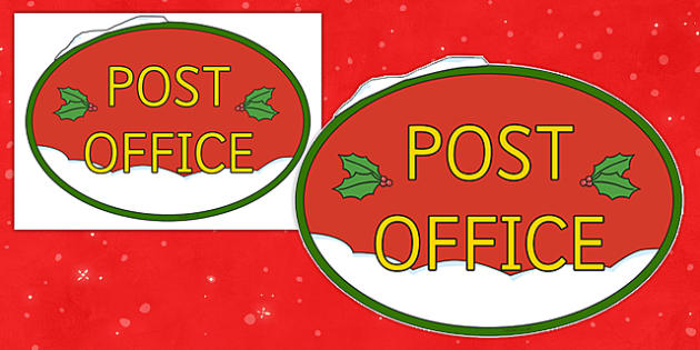 Christmas Post Office Sign - display, festivities, displays