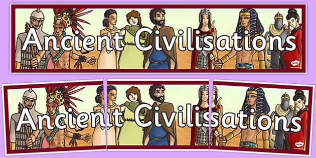 Ancient Civilisations Display Banner - ancient civilisation, display banner, display, banner, civilisation