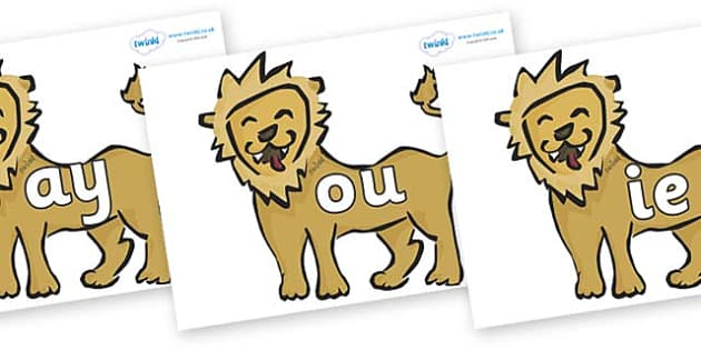 Phase 5 Phonemes on Lions - Phonemes, phoneme, Phase 5, Phase five, Foundation, Literacy, Letters and Sounds, DfES, display
