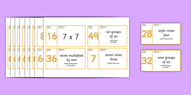 Loop Cards 6, 7, 8 and 9 Times Table Polish Translation - polish, Loop cards, cards, 6,7, 8, 9, times, table, multiple, multiples, multiplication, Maths, numbers, numeracy, KS2, activity, game