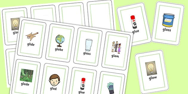 GL Sound Flash Cards - gl sound, sound, gl, flash cards, flash, cards