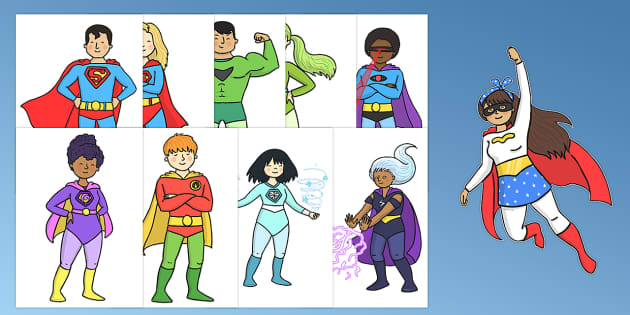 Superhero Cut Outs - superhero, cut outs, cut, outs, display, activity