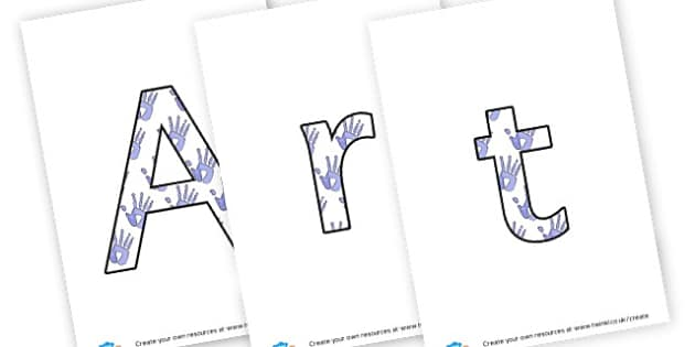 Art Club - lettering - display lettering - Art and Design Primary Resources, primary, colour, creative