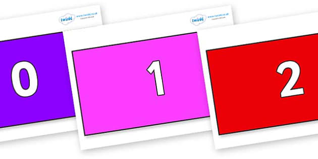 Numbers 0-50 on Rectangles - 0-50, foundation stage numeracy, Number recognition, Number flashcards, counting, number frieze, Display numbers, number posters