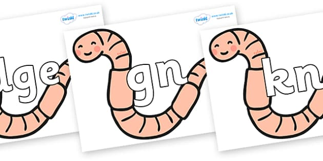 Silent Letters on Earthworms - Silent Letters, silent letter, letter blend, consonant, consonants, digraph, trigraph, A-Z letters, literacy, alphabet, letters, alternative sounds