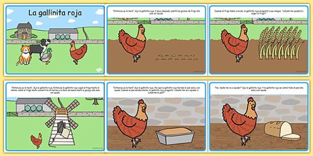 Cuento de la gallinita roja - la gallinita roja, cuentos