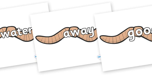 Next 200 Common Words on Worms - Next 200 Common Words on  - DfES Letters and Sounds, Letters and Sounds, Letters and sounds words, Common words, 200 common words