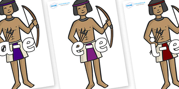 Modifying E Letters on Egyptian Archers - Modifying E, letters, modify, Phase 5, Phase five, alternative spellings for phonemes, DfES letters and Sounds