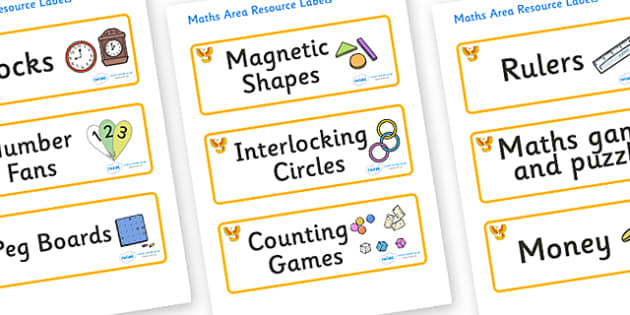 Phoenix Themed Editable Maths Area Resource Labels - Themed maths resource labels, maths area resources, Label template, Resource Label, Name Labels, Editable Labels, Drawer Labels, KS1 Labels, Foundation Labels, Foundation Stage Labels, Teaching Lab