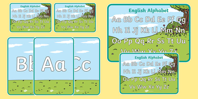 English Alphabet Display Poster