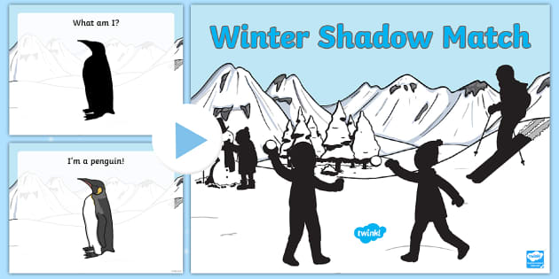 Winter Shadow Guess PowerPoint - Winter, shadow, match, powerpoint, problem solving