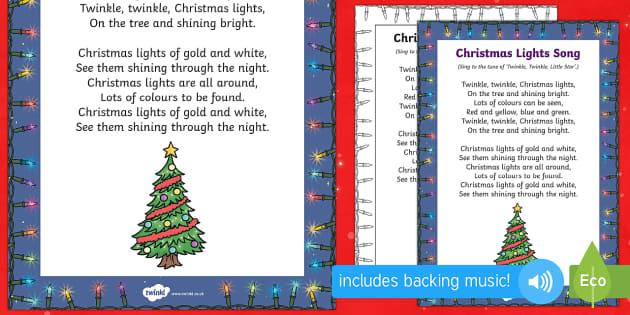 Christmas Lights Song