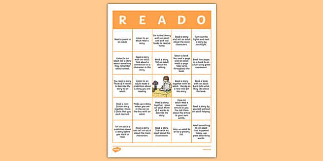 New Zealand 'Reado' Home Reading Activity Sheet, worksheet