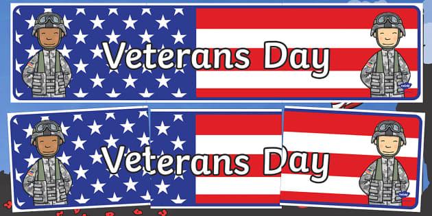 USA Veterans Day Banner
