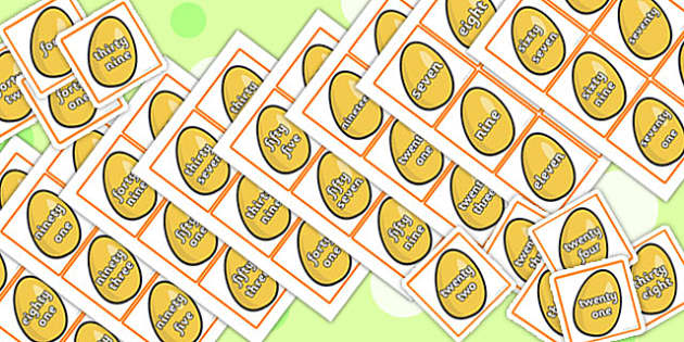 Jack and the Beanstalk Golden Egg Number Word Cards - Beanstalk
