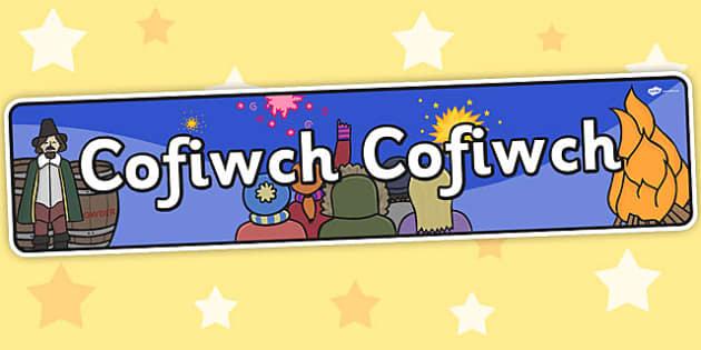 Baner Cofiwch Cofiwch - cofiwch, header, welsh, cymraeg