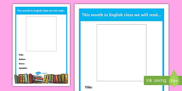 This Month We Will Read Editable Middle School English A4 Display Poster