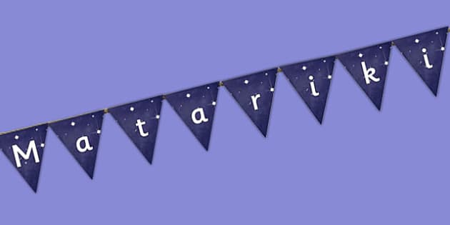Matariki Bunting - nz, new zealand, Matariki, Maori, display, bunting