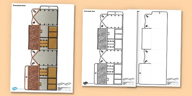 3D Roman London Paper Model - 3d, roman, london, roman london, paper model, paper, model, paper craft, craft, printable