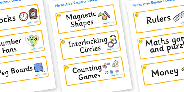 Welcome to our class- Smiley Face Themed Editable Maths Area Resource Labels - Themed maths resource labels, maths area resources, Label template, Resource Label, Name Labels, Editable Labels, Drawer Labels, KS1 Labels, Foundation Labels, Foundation