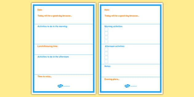 Daily Planner Alternative Checklist