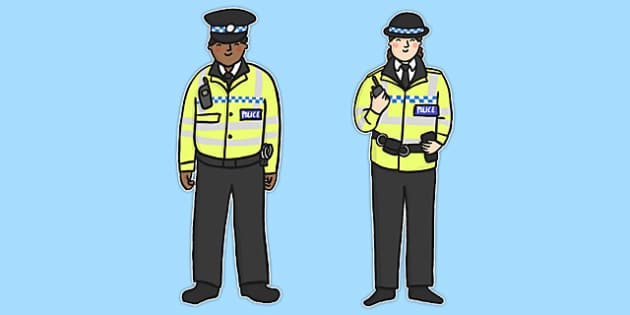 Police Stick Puppets - stick puppet, puppet, role play, police