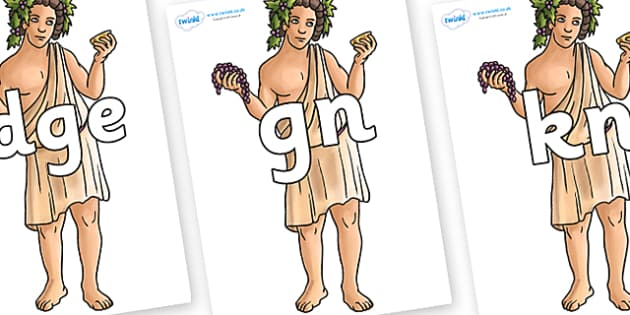 Silent Letters on Dionysus - Silent Letters, silent letter, letter blend, consonant, consonants, digraph, trigraph, A-Z letters, literacy, alphabet, letters, alternative sounds