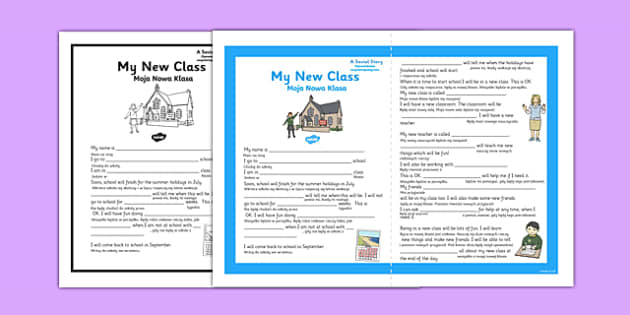 My New Class Social Story Primary Polish Translation - polish, new class, social, story
