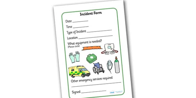 Paramedics Incident Forms - Paramedics Role Play, paramedic, paramedic resources, ambulance, ambulance man, emergency, accident, injury, people who help us, role play, display, poster
