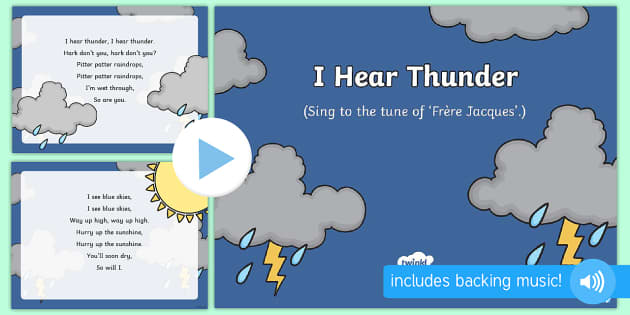I Hear Thunder Nursery Rhyme PowerPoint - powerpoint, nursery