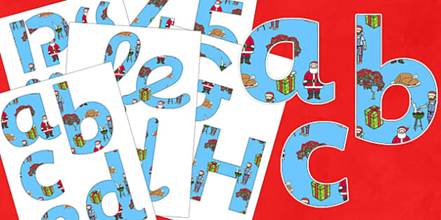 Christmas Display Lettering Pack NZ - nz, new zealand, christmas, display lettering, display