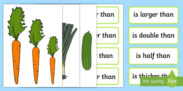 Vegetable Size Comparison Measuring Activity - vegetable, size comparison, measuring, activity