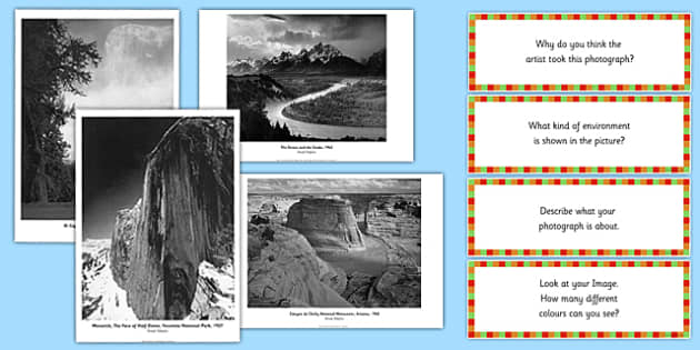 Ansel Adams Photopack and Prompt Questions - ansel adams, photo pack, prompt, questions