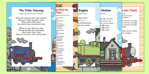 Trains Songs and Rhymes Resource Pack