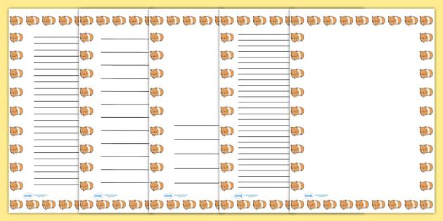 Hamster Page Borders - hamster, page borders, borders, writing