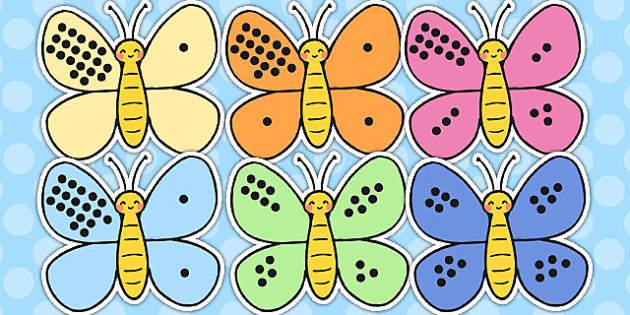 Number Bonds to Twenty on Butterflies - number bonds, twenty, butterflies