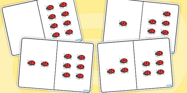Ladybug Counting Number Bonds to 8 - number, bonds, counting