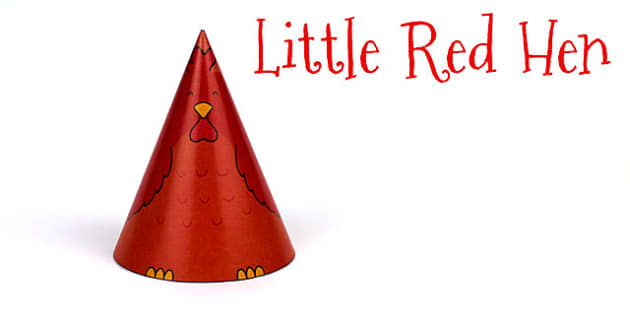 The Little Red Hen Cone Character - little red hen, story books