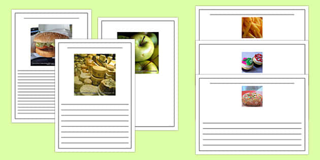 Photo Food Writing Frames - sorting, activity, activity, food